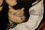 José de Ribera: Büßender Hlg. Hieronymus, Detail [um 1650, Academia de Bellas Artes, Madrid]