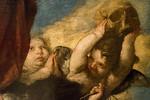 José de Ribera: Himmelfahrt Maria Magdalena, Detail [1636, Academia de Bellas Artes, Madrid]