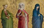 Christus am Kreuz und Heilige: Ursula, Magdalena, Maria