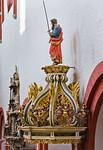 Brandenburg, Dom. Kanzel: Schalldeckel mit Paulus (1691)
