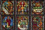 Brandenburg/Havel, Paulikloster. Chorscheitelfenster, Zeilen 2,3