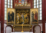 Brandenburg, Dom. Hochaltar: Maria Magdalena, Benedikt; Petrus, Maria, Paulus; Bernhard, Ursula (sächsisch, 1518, aus Lehnin)