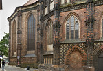 Brandenburg, St. Katharinen. Chor und Nordkapelle von Norden