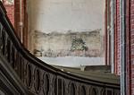 Brandenburg, St. Katharinen. Wandmalereireste an Westwand des südl. Seitenschiffs