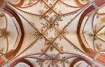 Brandenburg, St. Katharinen. Gewölbe mit Malerei im Chor (Osten unten)