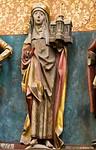 Brandenburg, St. Katharinen. Hedwigsaltar: hl. Hedwig mit Kirchenmodell von Trebnitz