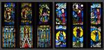 Schöpfungsfenster nII Zeile 1 (lu) bis 4 (ro)