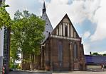 Frankfurt/Oder, Franziskanerkirche (Konzerthalle CPE Bach) vom Oderufer