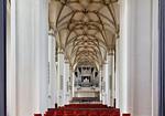 Frankfurt/Oder, Franziskanerkirche (Konzerthalle CPE Bach). Mittelschiff nach Westen