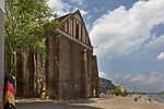 Frankfurt/Oder, Franziskanerkirche. Chor, Funktionsgebäude und Oder