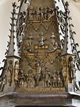 Frankfurt/Oder, St. Gertraud. Bronzetaufe, Deckel, Detail (aus St. Marien)