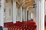 Frankfurt/Oder, Franziskanerkirche (Konzerthalle CPE Bach). Mittelschiff nach Nordosten