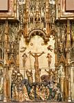 Jaques de Baerze, Schnitzaltar aus Klosterkirche, Mittelteil, Detail (1390) [Dijon, Musée des Beaux-Arts]