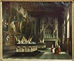 Dijon, Herzogspalast. Andre Mathieu: La Salle des Gardes en 1847 [Musée des Beaux-Arts]