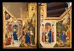 Melchior Broederlam: Flügel mit Verkündigung und Heimsuchung vom ehem. Hauptaltar der Klosterkirche (1393-99) [Dijon, Musée des Beaux-Arts]
