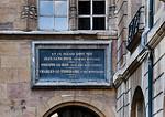 Dijon, Herzogspalast. Gedenktafel am Salle des Gardes