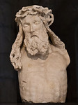 Dijon, Christus vom Mosesbrunen, frontal [Arch. Museum]