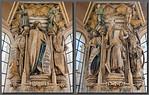Dijon, Kartause. Mosesbrunnen: Daniel, Jesaja (Claus de Werve)