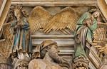 Dijon, Kartause. Mosesbrunnen: Danielkopf und zwei Engel
