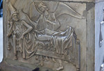 Bamberg. Dom: Westchor, Tumba Clemens II. Ostseite: Tod des Papstes