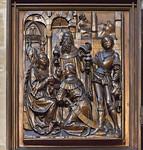 Bamberg. Dom: Marienaltar, untere Tafel linker Flügel (Veit Stoß, 1523)