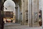 Bamberg. Dom: südl. Seitenschiff nach Westen mit Blick auf Marienaltar von Veit Stoß