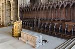 Bamberg. Dom: Westchor (Peterschor) mit Tumba Clemens II. und Bischofskathedra