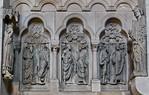 Bamberg. Dom: nördl. Chorschranke, östl. Joch, Propheten zwischen Papst Clemens und Elisabeth