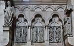 Bamberg. Dom: nördl. Chorschranke, westl. Joch, Propheten zwischen lachendem Engel und Dionysius