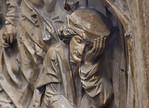 Bamberg. Dom: Tumba Heinrich + Kunigunde, Wand, Steinheilung durch hl. Benedikt: schlafender Arzt
