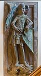 Bopfingen. St. Blasius. Hochaltar, Grab des Ritters Walter von Bopfingen (gest. 1366)