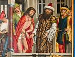 Nördlingen. Stadtmuseum. Epitaph für Hans Gienger, Ecce Homo  (Friedrich Herlin, 1468)