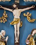 Nördlingen. St. Georg: Hochaltar, Christus, Maria + Johannes
