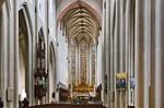 Rothenburg. St. Jakob: Blick durch Längsschiff auf Ostchor