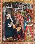 Bopfingen. St. Blasius. Hochaltar, re. Flügel: Anbetung (Friedrich Herlin, um 1472)