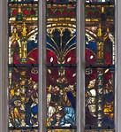 Rothenburg. St. Jakob: südl. Chorfenster, Mannalese, unterer Teil