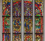 Rothenburg. St. Jakob: mittl. Chorfenster, obere Zeilen mit Passion