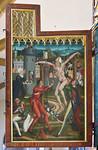 Bopfingen. St. Blasius. Hochaltar, li. Außenflügel, Blasiuslegende