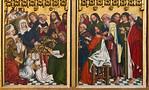 Rothenburg. St. Jakob: Hochaltar, re. Flügel, Marientod auf 2 Tafeln