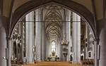 Nördlingen. St. Georg: Blick von Empore nach Osten