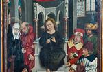 Nördlingen. Stadtmuseum. Familienaltar des Malers Friedrich Herlin, re. Tafel, Detail (1488)