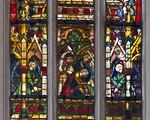 Rothenburg. St. Jakob: südl. Chorfenster, Mannalese, oberer Teil