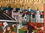 Bopfingen. St. Blasius. Hochaltar, re. Flügel: Anbetung, Detail