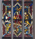 Rothenburg. St. Jakob: nördl. Chorfenster, Auferstehung