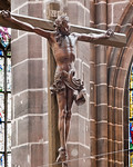 Nürnberg. St. Lorenz: Kruzifix über Hochaltar (Veit Stoß, 1520)