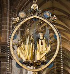 Nürnberg. St. Lorenz: Der englische Gruß, Rückseite