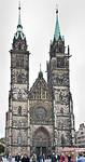 Nürnberg. St. Lorenz: Westfassade