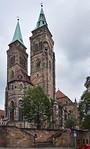 Nürnberg. St. Sebald von Südwesten