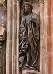 Nürnberg. St. Sebald: Schmerzensmann über Volckamer-Epitaph (Veit Stoß, 1499)
