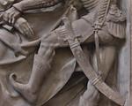 Nürnberg. St. Sebald: Volckamer-Epitaph, Detail Gefangennahme mit Signatur